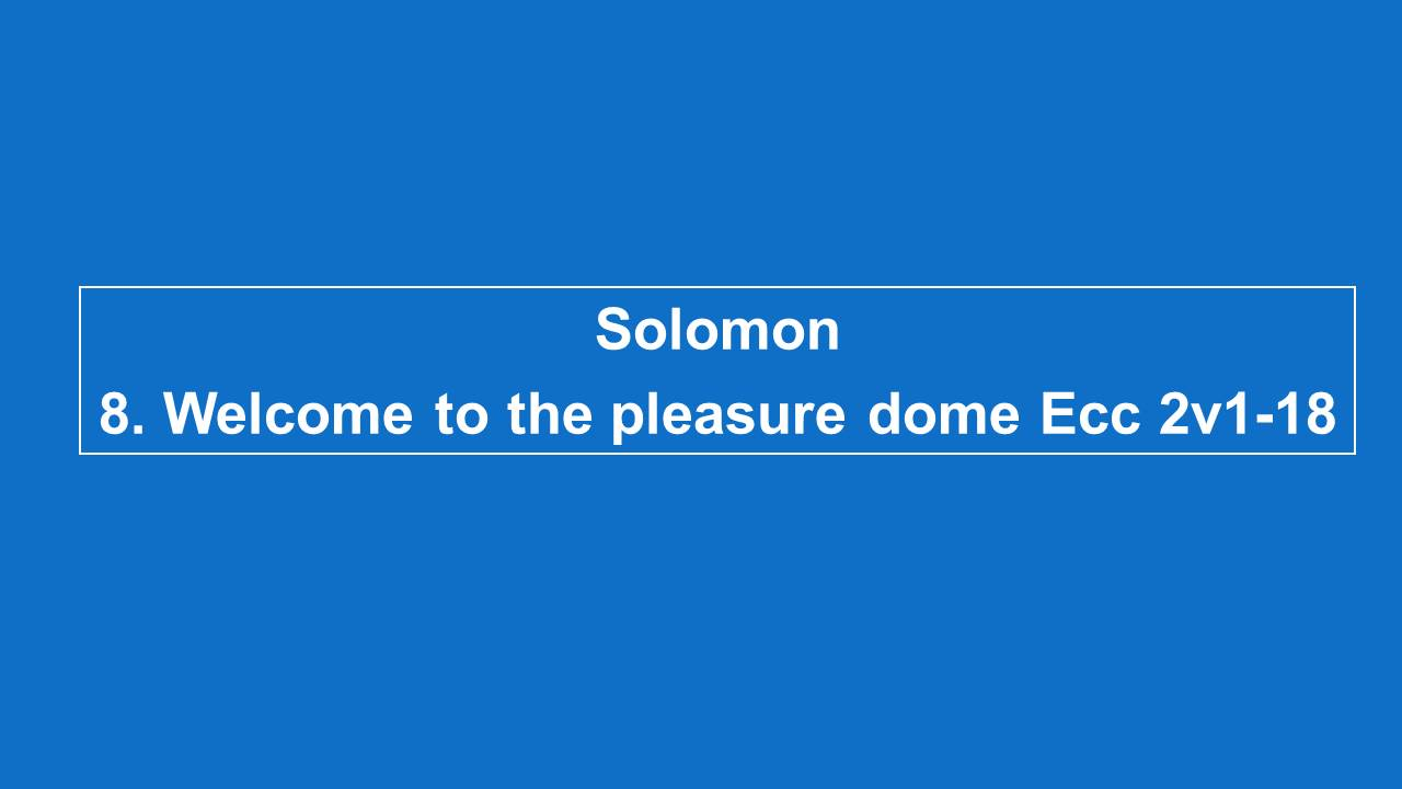 #8 Welcome To The Pleasure Dome