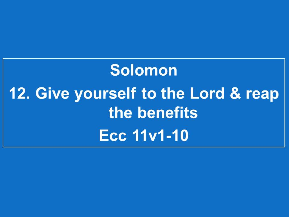 #12 Spend Yourself For The Lord & Reap The Benefits